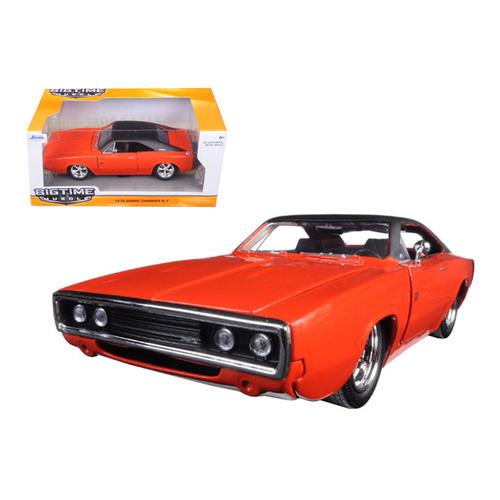 1970 Dodge Charger R/T Orange 1/24 Diecast Model Car by Jada