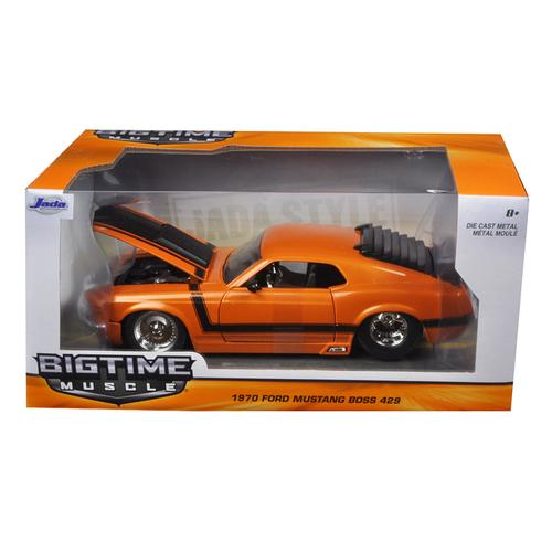 1970 Ford Mustang Boss 429 Orange 1/24 Diecast Model Car by Jada