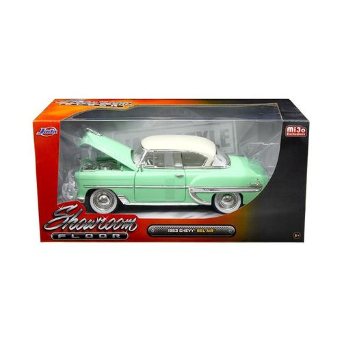 "1953 Chevrolet Bel Air Light Green ""Showroom Floor"" 1/24 Diecast Model Car by Jada"