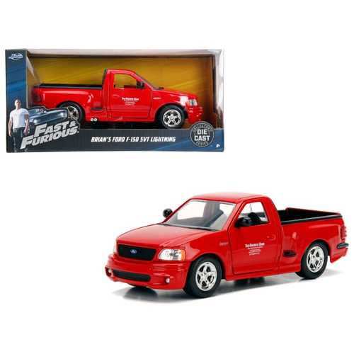 "Brian's Ford F-150 SVT Lightning Pickup Truck Red ""Fast & Furious"" Movie 1/24 Diecast Model Car by Jada"