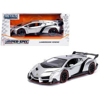 Lamborghini Veneno Candy Silver 1/24 Diecast Model Car by Jada