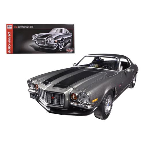 1970 Chevrolet Camaro Z/28 Galaxy Gray 1/18 Diecast Model Car by Autoworld