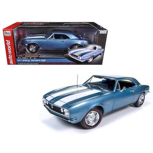 1967 Chevrolet Camaro Z/28 50th Anniversary Nantucket Blue Limited Edition to 1002pcs 1/18 Diecast Model Car  by Autoworld