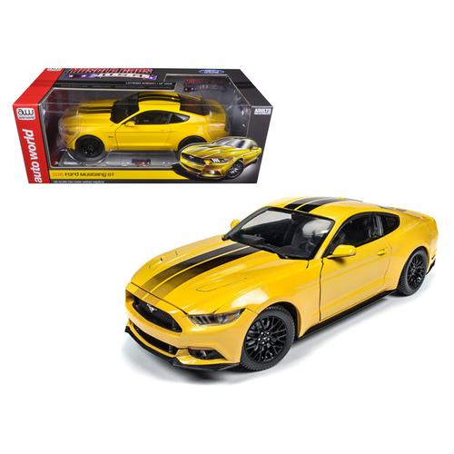 2016 Ford Mustang Gt 5.0 Yellow Limited Edition to 1002pcs 1/18 Diecast Model Car  by Autoworld