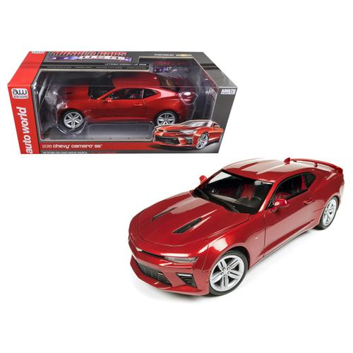 2016 Chevrolet Camaro SS Garnet Red Limited Edition to 1002pc 1/18 Diecast Model Car by Autoworld