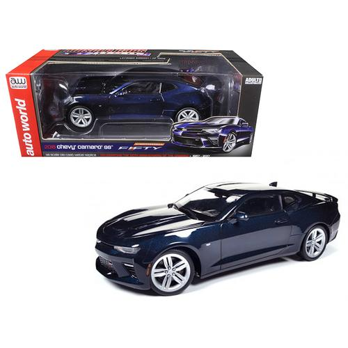 2016 Chevrolet Camaro SS Blue Velvet Metallic Celebrating 50th Anniversary Limited Edition to 1002pcs 1/18 Diecast Model Car by Autoworld