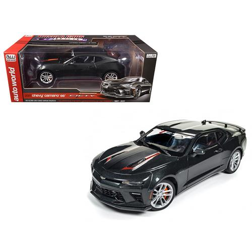2017 Chevrolet Camaro SS Nightfall Gray Metallic 50th Anniversary Limited Edition to 1002pc 1/18 Diecast Model Car by Autoworld