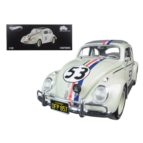 1963 Volkswagen Beetle Herbie Goes to Monte Carlo #53 Elite Edition 1/18 Diecast Model Car by Hotwheels