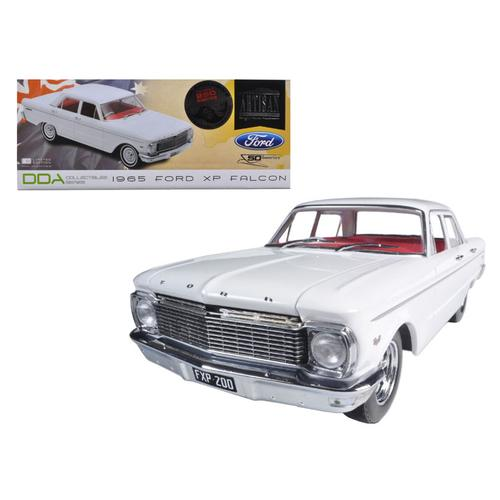 1965 Ford XP Falcon White 50th Anniversary Limited to 250pc with Certificate of Authenticity & Mag Wheels 1/18 Diecast Car Model by Greenlight