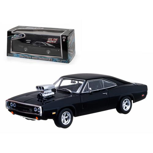 "Dom's 1970 Dodge Charger Black ""The Fast and The Furious"" Movie (2001) 1/43 Diecast Car Model by Greenlight"