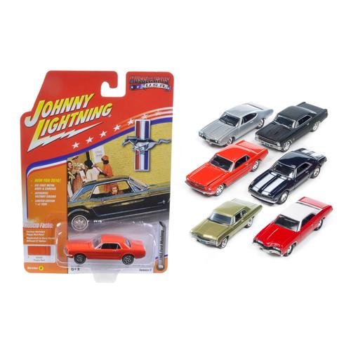 Muscle Cars USA Set of 6 1/64 Diecast Model Cars by Johnny Lightning