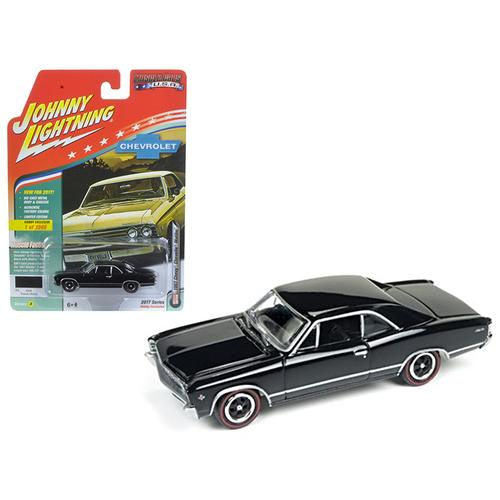 "1967 Chevrolet Chevelle Gloss Black ""Muscle Cars USA"" 1/64 Diecast Model Car by Johnny Lightning"