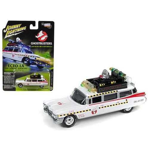 "1959 Cadillac Ghostbusters Ecto-1A from ""Ghostbusters 1"" Movie 1/64 Diecast Model Car by Johnny Lightning"