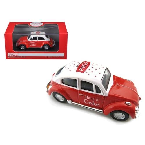 1966 Volkswagen Beetle Coca Cola Red 1/43 Diecast Car Model by Motorcity Classics