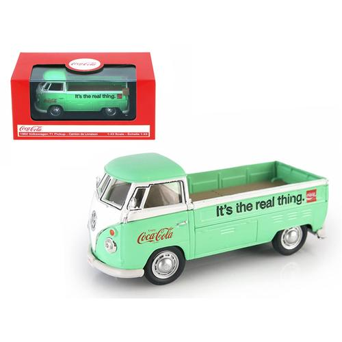 Volkswagen T1 Pickup Truck Coca Cola Green 1/43 Diecast Car Model by Motorcity Classics