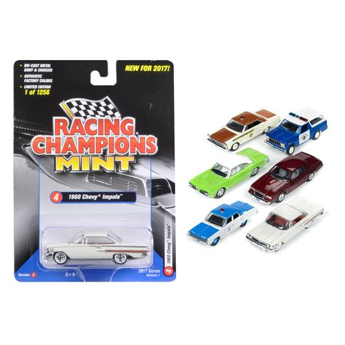 Mint Release 2017 Set D Set of 6 cars 1/64 Diecast Model Cars by Racing Champions