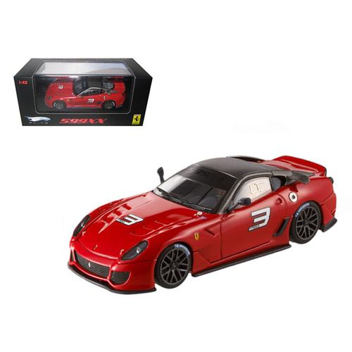Ferrari 599XX #3 Red Elite Edition 1/43 Diecast Car Model by Hotwheels