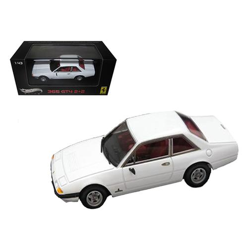 Ferrari 365 GT4 2+2 White Elite Edition Diecast Car Model Limited Edition 1 of 5000 Produced Worldwide 1/43 Diecast Model Car by Hotwheels