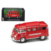 1962 Volkswagen Microbus Police Fire Department 1/43 Diecast Car Model by Road Signature
