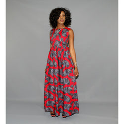 ADENSECRET TOMISIN AFRICAN PRINT ANKARA MINI DRESS