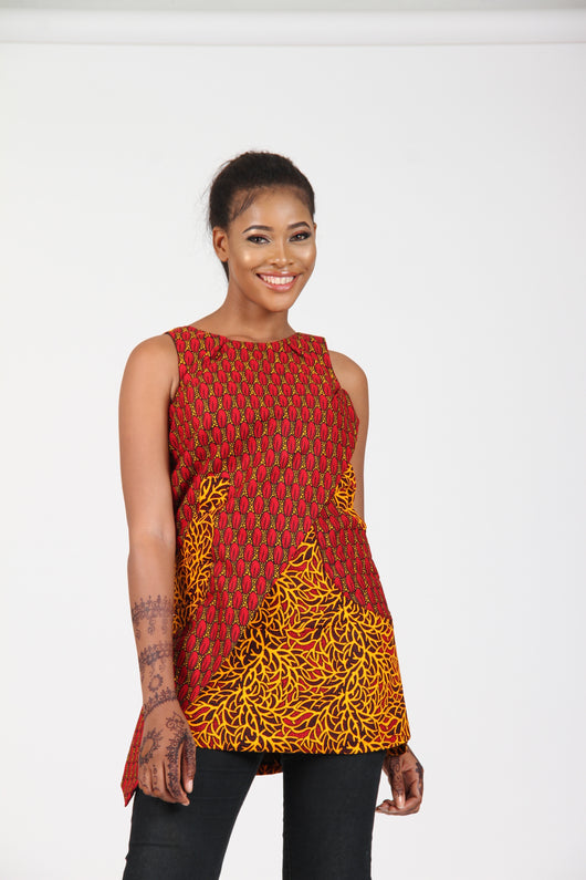 African Inspired Top