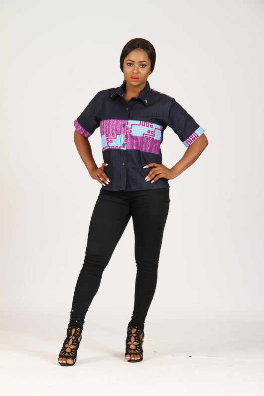 Denim with African Inspired Print Designs