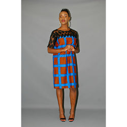 DETOYE AFRICAN PRINT ANKARA SACK DRESS