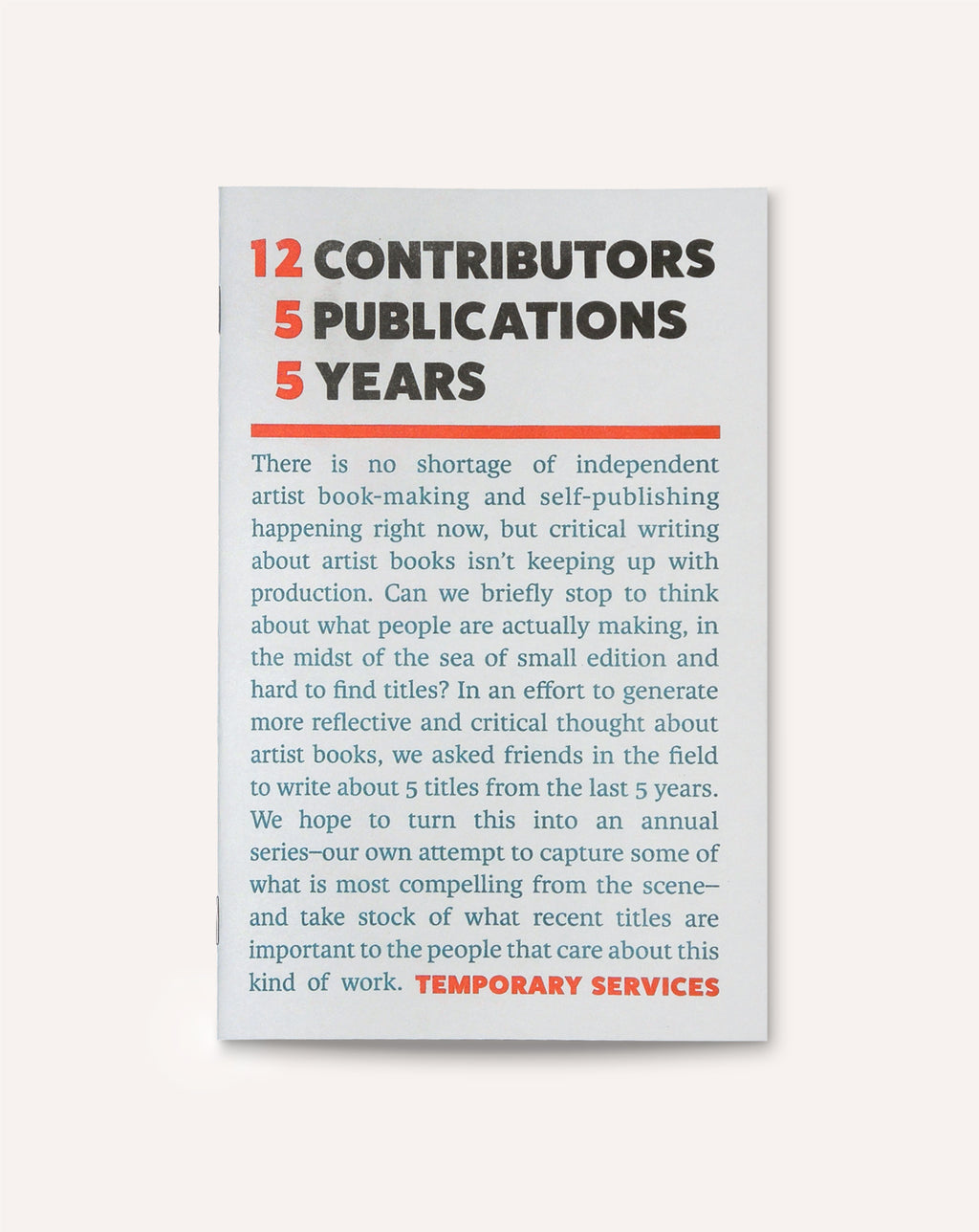 12 Contributors, 5 Publications, 5 Years