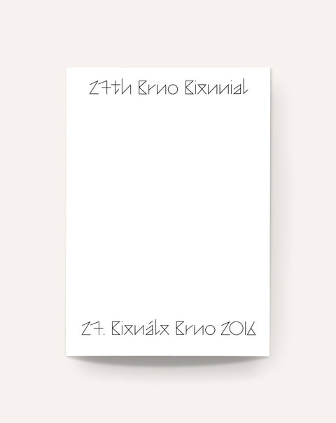 27th Brno Biennial Catalogue (2016)