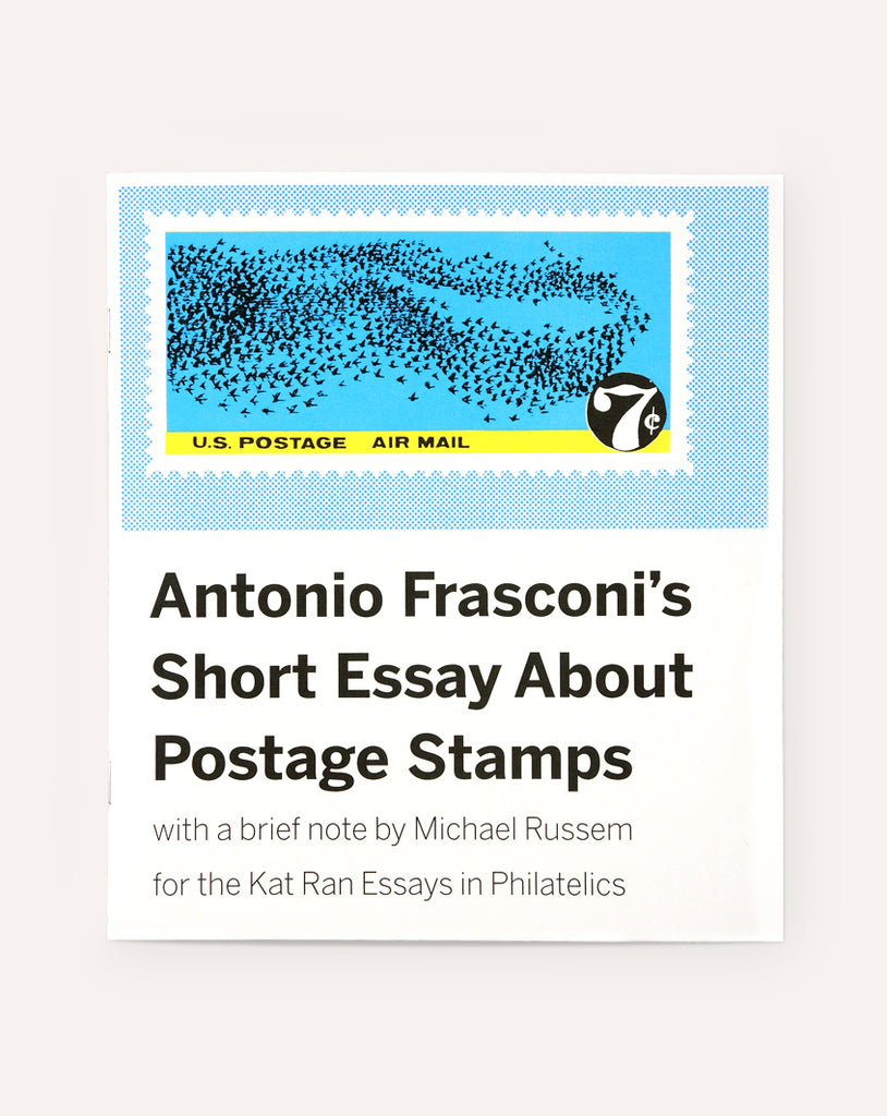 Antonio Frasconi's Short Essay About Postage Stamps