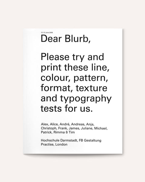 Dear Blurb