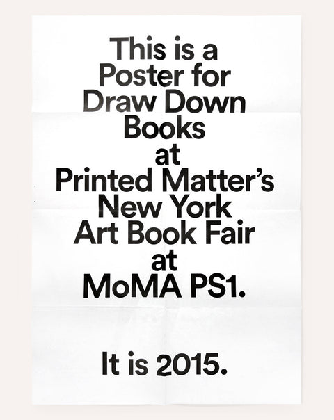 NY Art Book Fair Poster (2015)