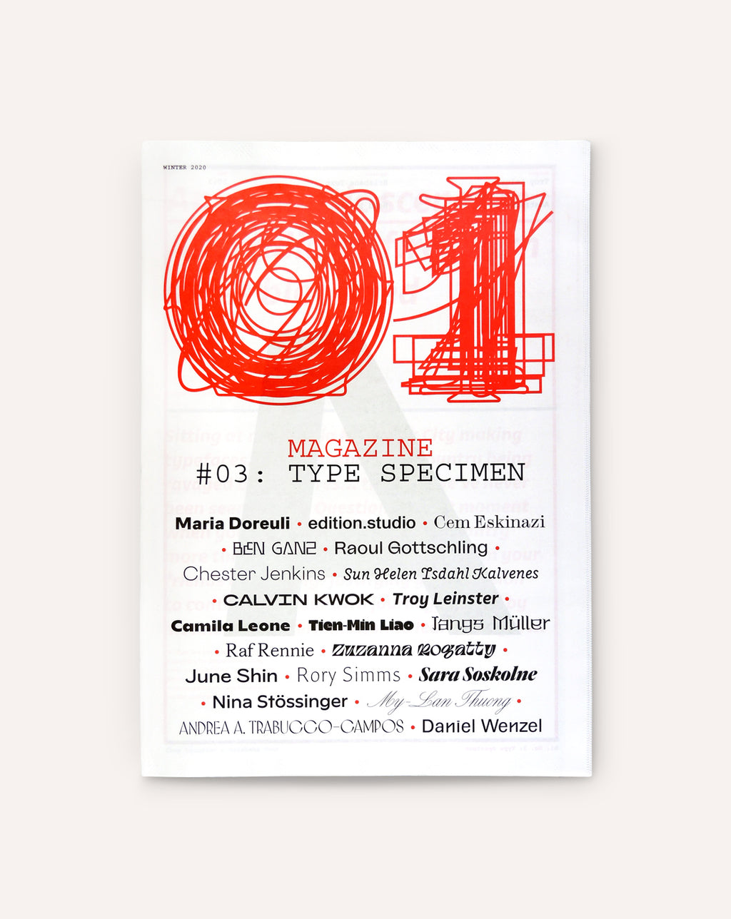O1 Magazine, No. 03: Type Specimen