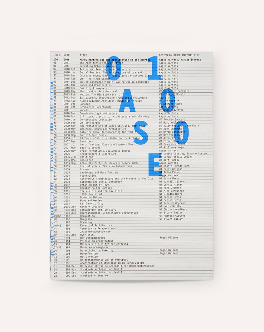 OASE #100: The Architecture of the Journal