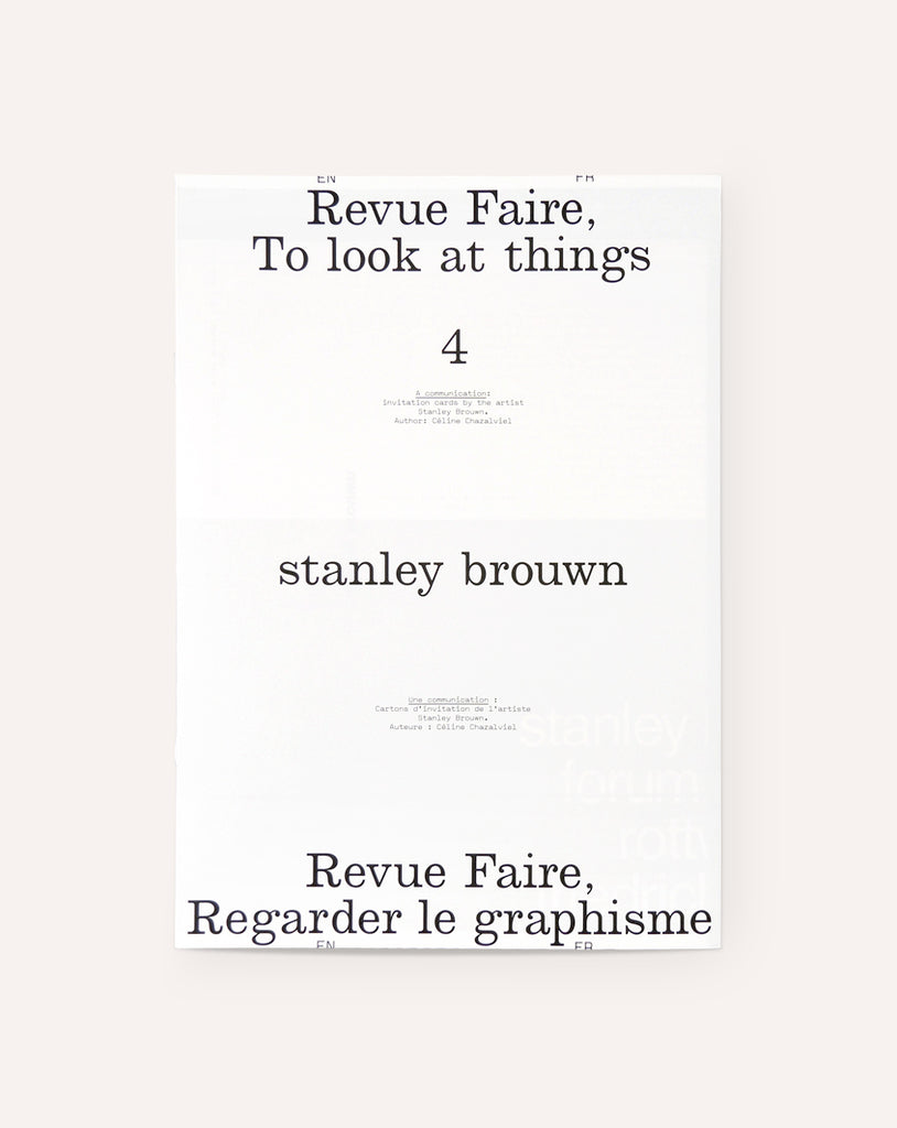 Revue Faire No. 4 (A communication: invitation cards by the artist Stanley Brouwn)