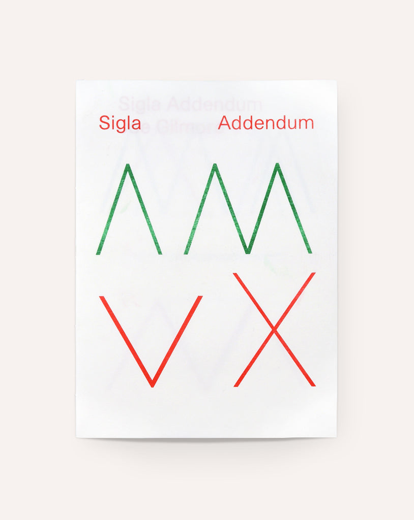 Sigla Addendum / Joe Gilmore