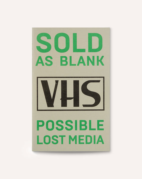 Sold As Blank / Possible Lost Media