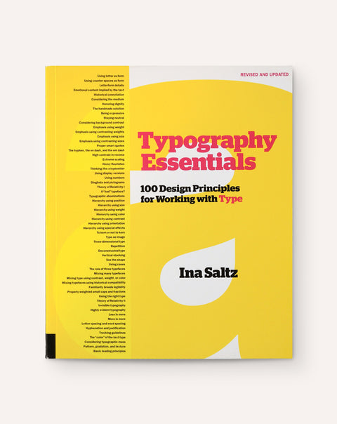 Typography Essentials: 100 Design Principles for Working with Type