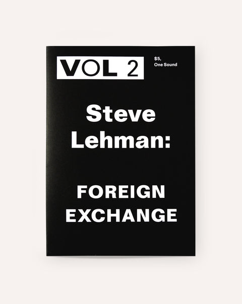 VOL 2 (Volume 2) Steve Lehman: Foreign Exchange