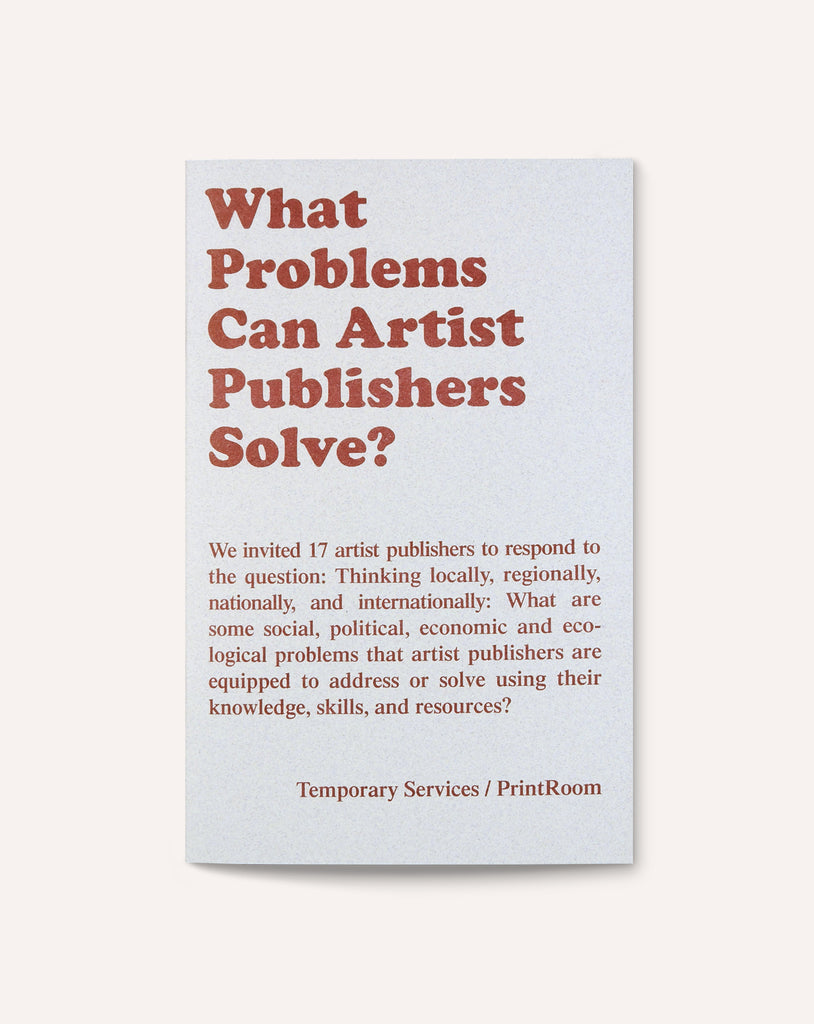 What Problems Can Artist Publishers Solve?