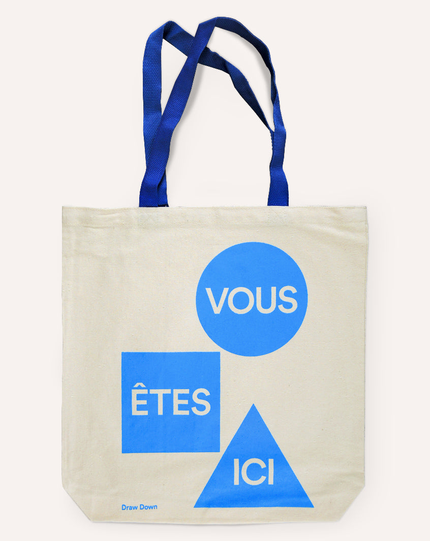 You Are Here — Tote Bag (Blue)