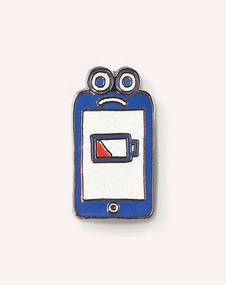 Sad Phone Pin by Will Bryant