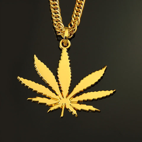 "35"" Long Marijuana Leaf Snake Chain - A Stoners Heaven"