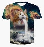 3D Cat Galaxy T-Shirt - A Stoners Heaven