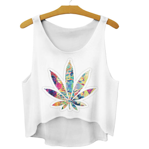 Colorful Weed Leaf Tank Top - A Stoners Heaven