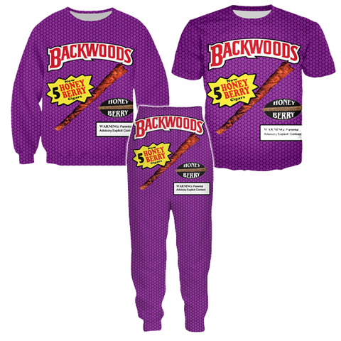Backwoods Honey Berry Tracksuit Set (Sweater, T-Shirt & Trousers)