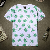 Weed Leaf Pattern T-Shirt - A Stoners Heaven