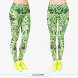 Marijuana Leaf Pattern Legging Pants - A Stoners Heaven