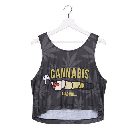 Cannabis Joint Crop Top - A Stoners Heaven
