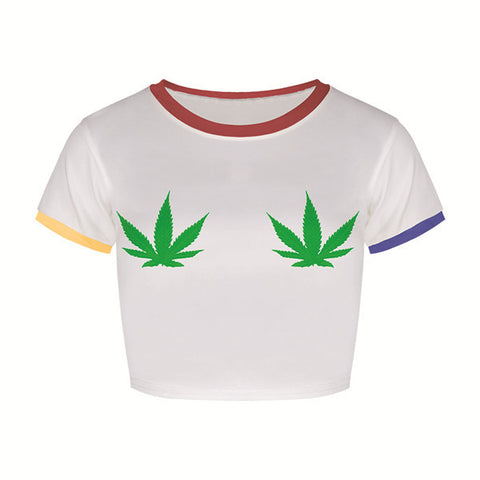 Marijuana Leaf Crop Top (2 Styles) - A Stoners Heaven